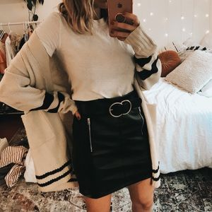 Kendall & Kylie Skirts - Kendall & Kylie Leather Mini Skirt